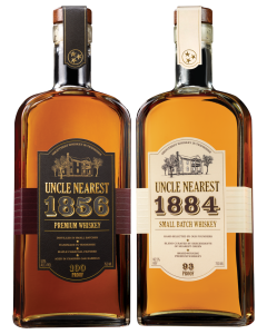 UNCLE NEAREST 1856 PREMIUM AGED WHISKEY and 1884 SMALL BATCH WHISKEY